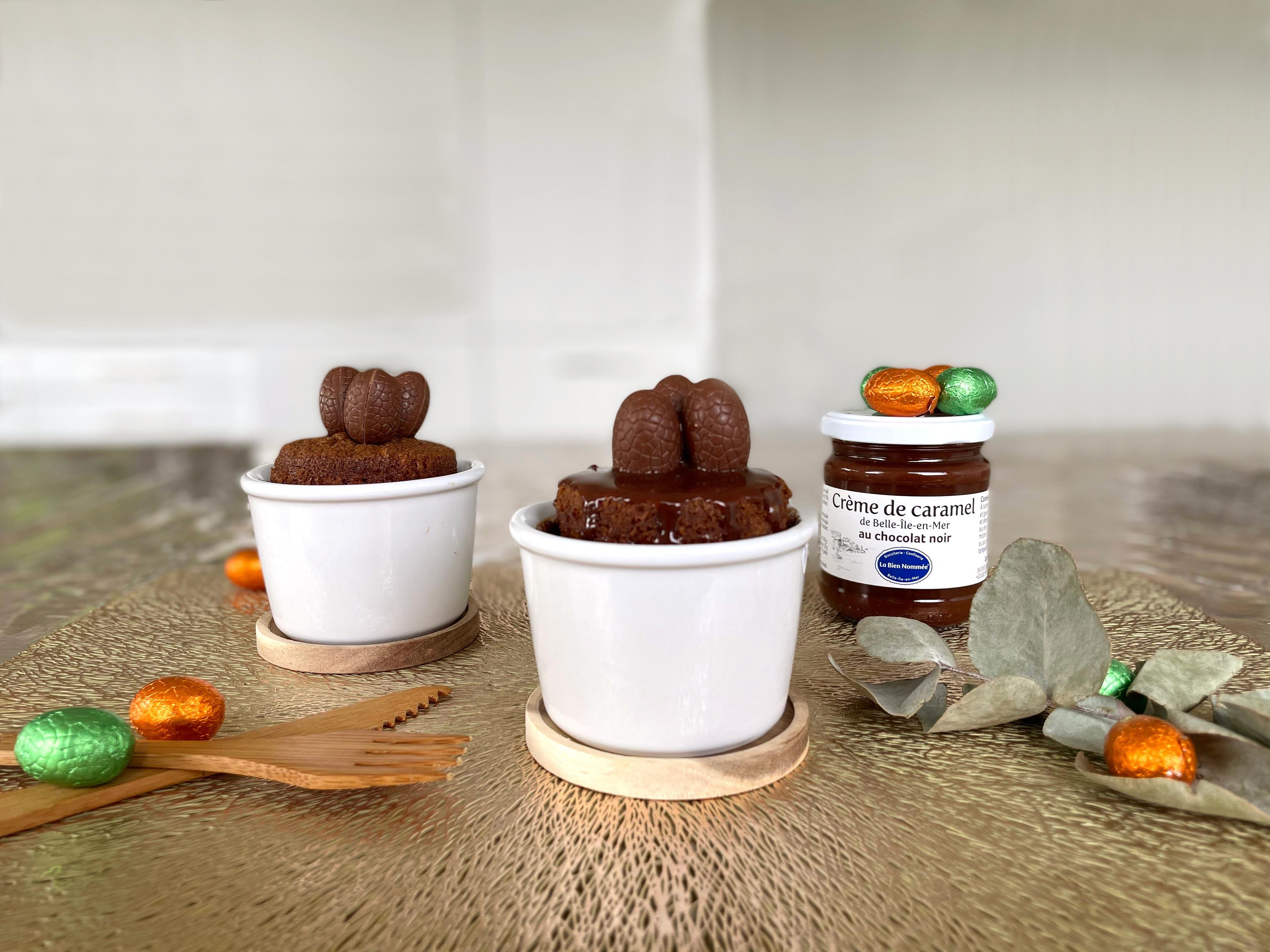 Muffins coeur caramel au chocolat noir La Bien Nommée